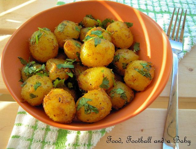 Indian spiced roasted potatoes- As scrumptious as these sound I know ...