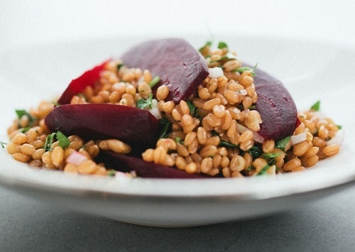 Roasted Beet and Wheatberry Salad | recipes | Pinterest