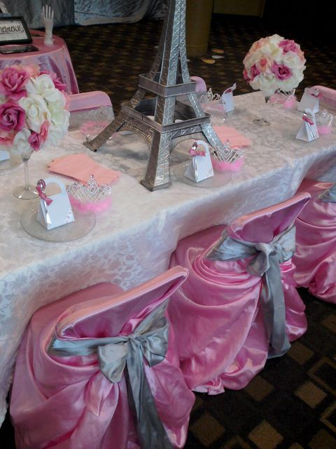 Pink Paris Party #pink #parisparty www.tablescapesbydesign.com https://www.facebook.com/pages/Tablescapes-By-Design/129811416695