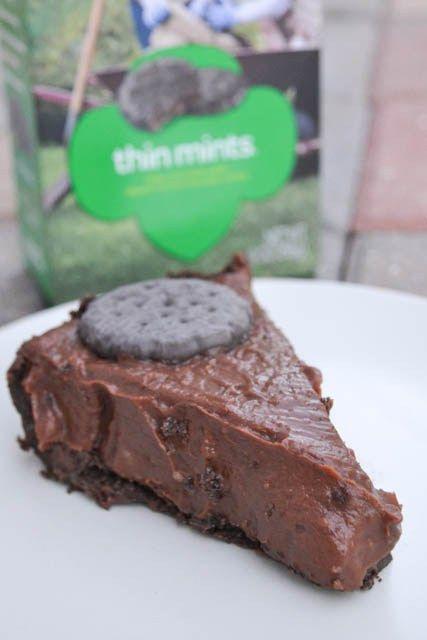 Thin Mint Cookie Pie | I am a Honey Bee | Food | Pinterest