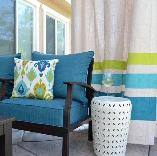 Diy These Easy Drop Cloth Outdoor Curtains For Under 50 Apartment