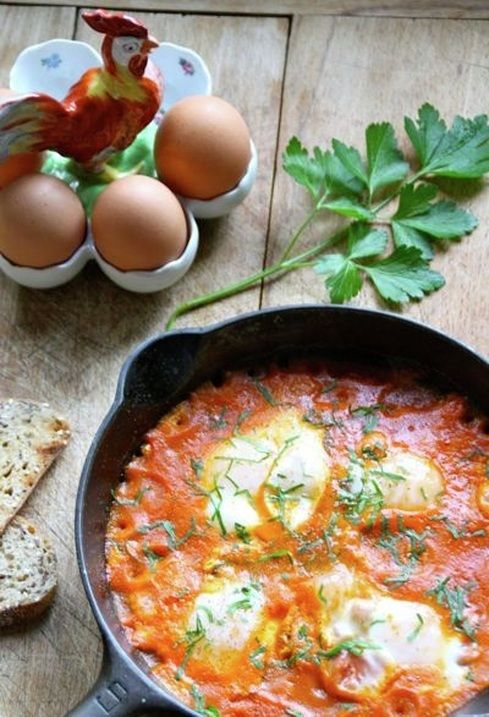 eggs in tomato sauce | To Cook | Pinterest