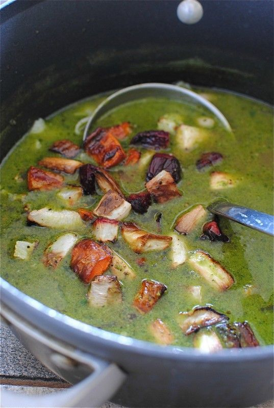 Roasted Vegetable and Pesto Minestrone | Recipes: Soups | Pinterest