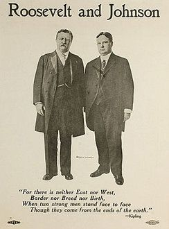 Poster for Theodore Roosevelt for President and Hiram Johnson for Vice ...