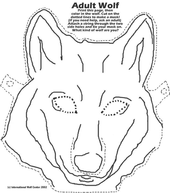 Big Bad Wolf Mask Printable Found on wolf.org