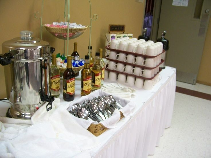 Pin by fawn beck on baby shower pinterest for Coffee bar at wedding reception