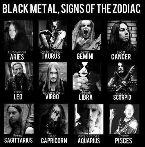 BlackMetal, Signs of the Zodiac | Music (Metal \m/ Soul) | Pinterest