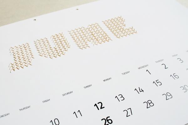 embroidery calendar. iwona przyblya.