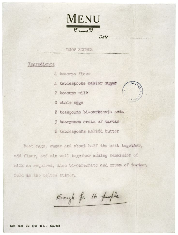 Queen Elizabeth's recipe for scones! Happy 60th, Elizabeth.