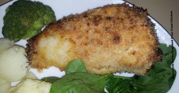 fried chicken oven fried buttermilk mustard chicken thighs with panko ...