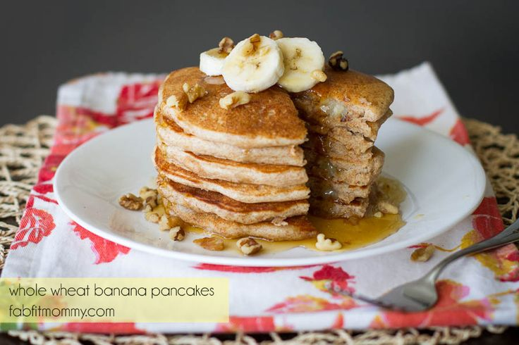 Whole Wheat Banana Pancakes | Breakfasts Of Champions | Pinterest