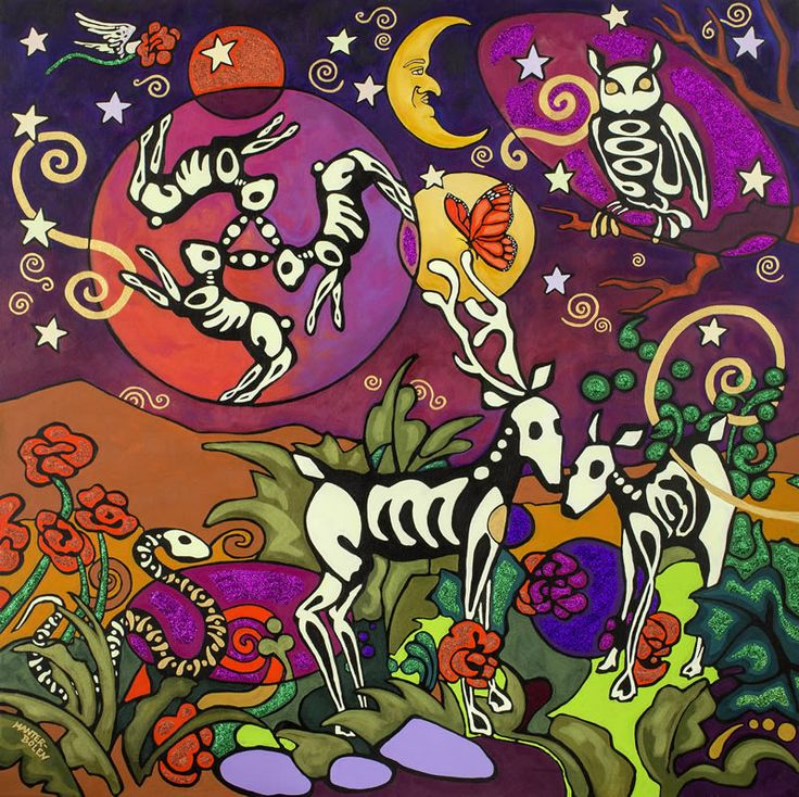 Dia de los muertos images frompo for Dia de los muertos mural