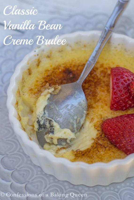 Classic Vanilla Bean Creme Brulee www.confessionsofabakingqueen.com