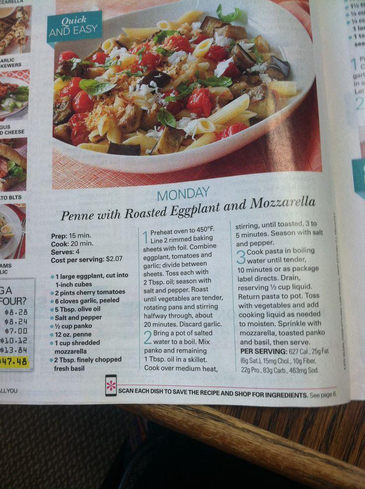 Penne With Eggplant And Mozzarella Recipes — Dishmaps