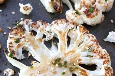 Cauliflower Steaks with Ginger-Soy Sauce | recepten | Pinterest