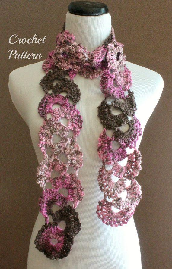 Crochet PATTERN PDF Queen Annes Lace Scarf Pattern, Crochet Scarf Pa ...