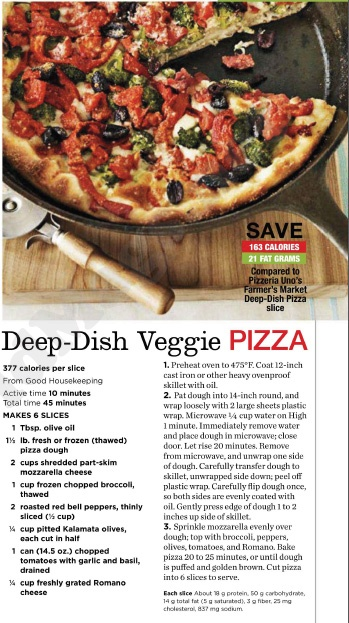Deep-Dish Veggie Pizza Recipe | Foodism | Pinterest
