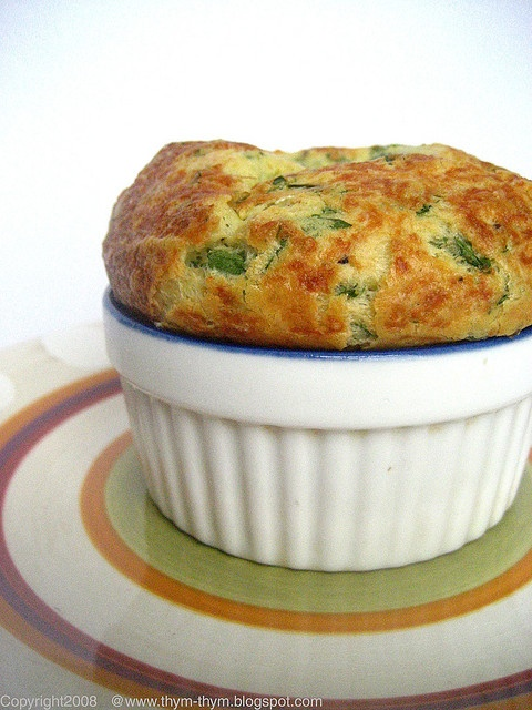 Leeks and Gruyere Souffle by Warda | 64 sq ft kitchen, via Flickr