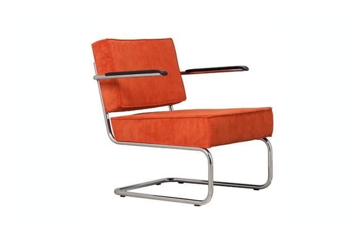 Lounge Stoel Ridge Rib - Oranje - Zuiver  Things I Like  Pinterest