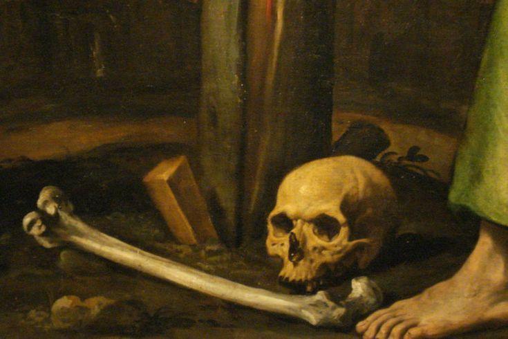 Vanité, détail d'un tableau de Luis Tristán (Tolède 1585 -1624)
