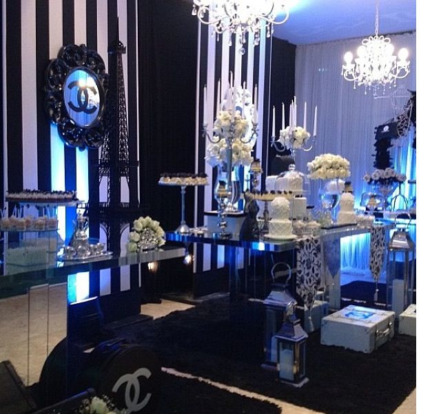 Chanel Party Sweet 16 Chanel Theme Pinterest