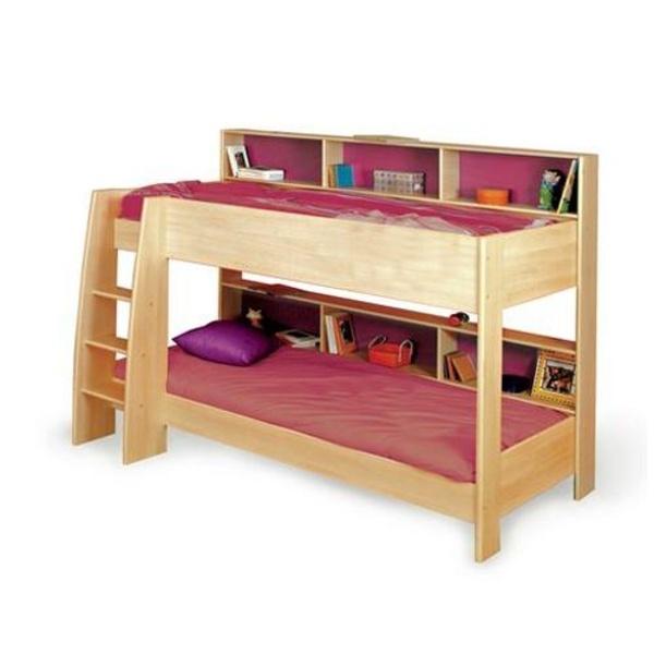 bunk bed with shelves for the home pinterest. Black Bedroom Furniture Sets. Home Design Ideas