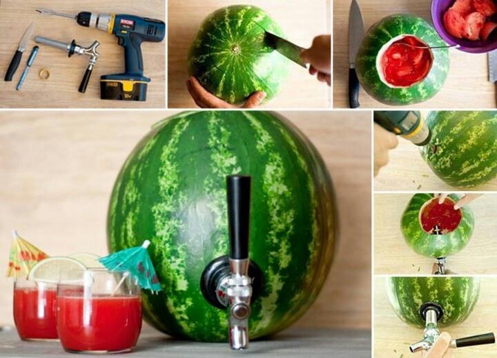 Coquetel de melancia à patrão