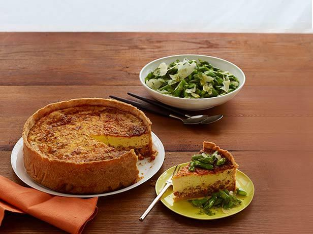 Tyler's Deep-Dish Ham Quiche With Herb and Asparagus Salad would make a great Father's Day brunch!