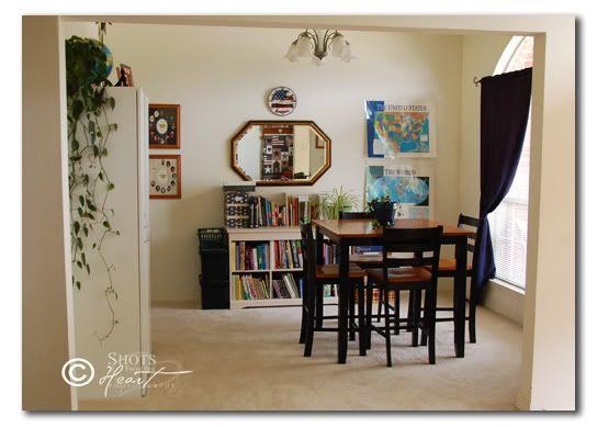 Dining room homeschool room pinterest for Homeschool dining room ideas