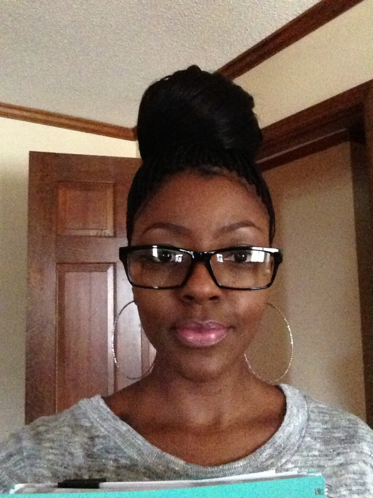 Micro Braids Updos Images
