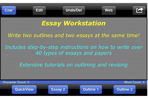 essay writing workstation app