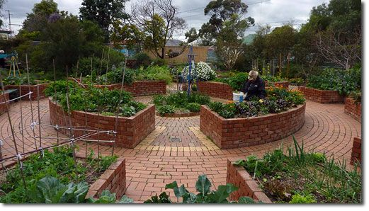 Backyard Permaculture Gardening Australia :  bed garden Image The Permaculture Research Institute of Australia
