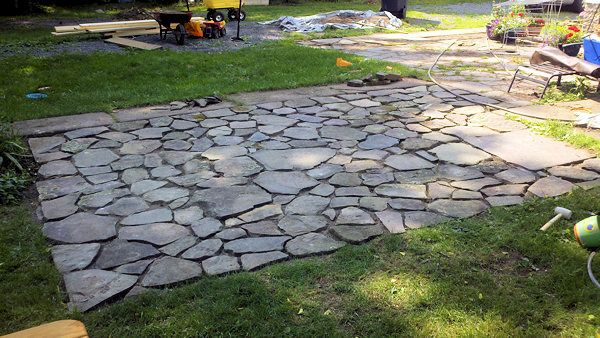 Flagstone Patio Lockwood Pinterest