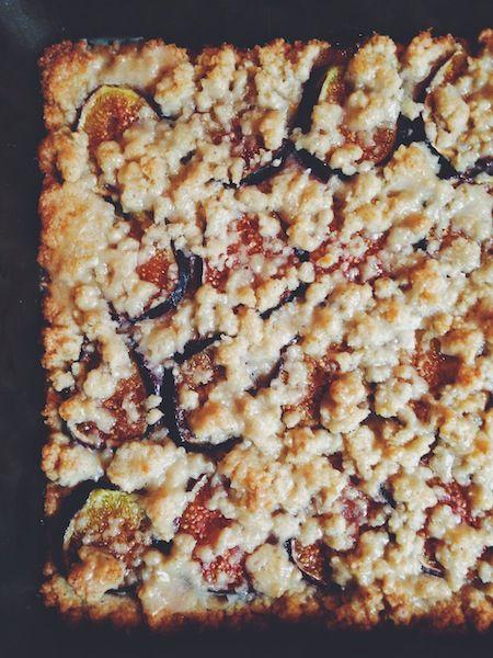 Fig and Vanilla Bean Shortbread Bars | NOM NOM | Pinterest