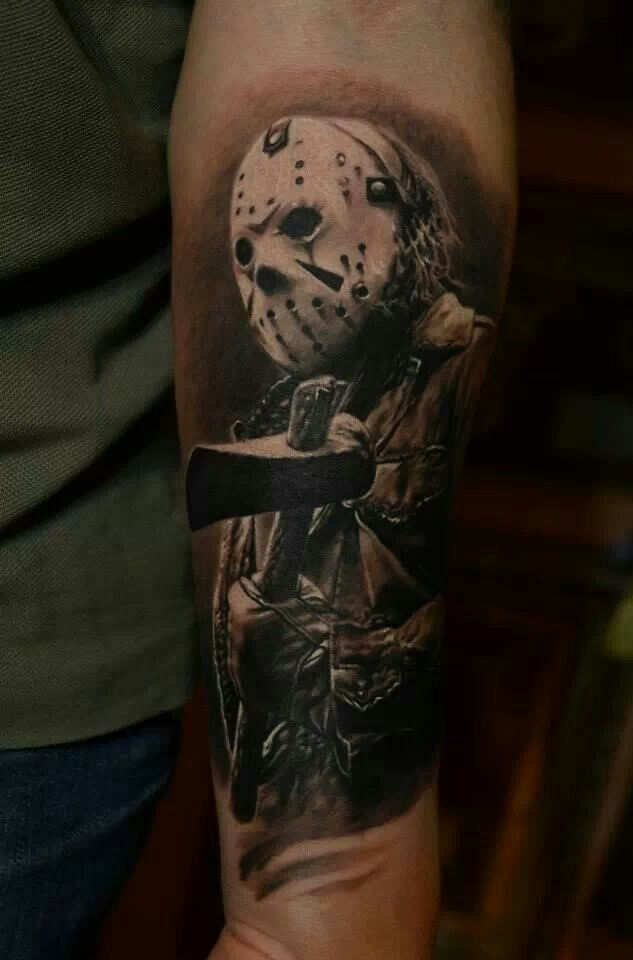 12 terrifying jason voorhees tattoos for Omega tattoo jackson heights