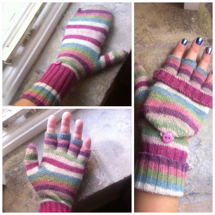 Knitting Pattern For Flip Top Mittens : Just Knitted these rainbow flip top mittens ready for the winter LOVE THEM ge...