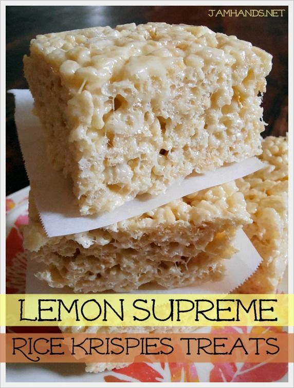 Jam Hands: Lemon Supreme Rice Krispies Treats  How I miss rice krispies... we used to have it homemade when I were still in primary.