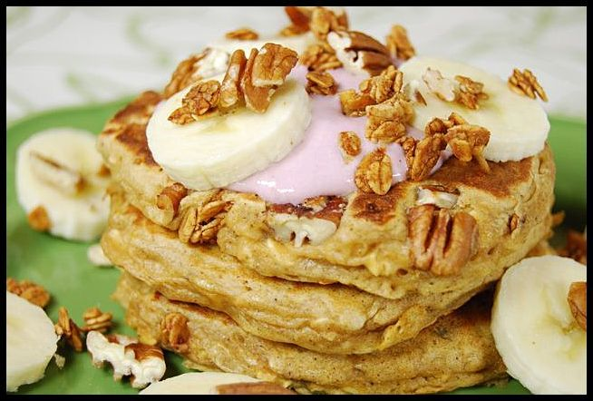 Banana Crunch Pancakes to start off your day.