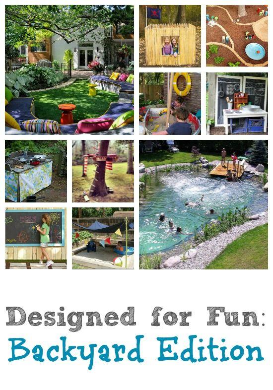 Fun Backyard Ideas from remodelaholic.com