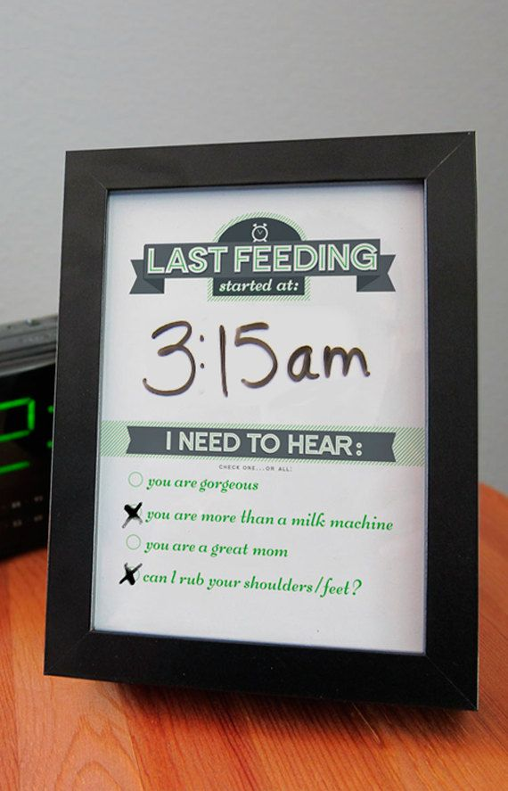Great gift for new moms!   Dry Erase Newborn Feeding Tracker via Etsy.  by @Committedgifts http://etsy.me/VwI5i4 via @Etsy