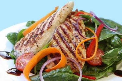 Grilled chicken and Spinach Salad with Balsamic Vinaigrette....or, in ...