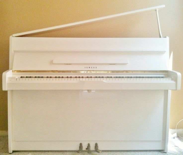 Yamaha Upright White Lacquer PianoYamaha Upright Piano White