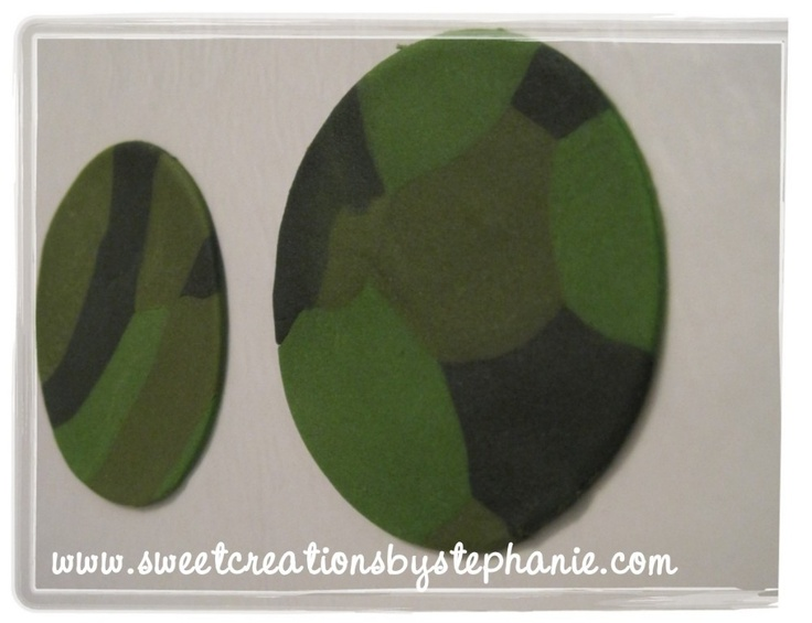 how to make camo fondant