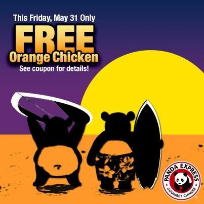Panda express coupons free orange chicken