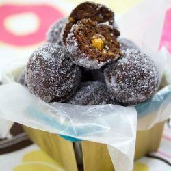 Chocolate Caramel Doughnut Holes for breakfast or dessert!