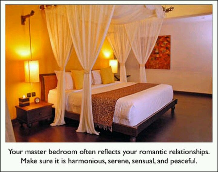 Feng shui bedroom tip 1 feng shui pinterest Feng shui master bedroom direction