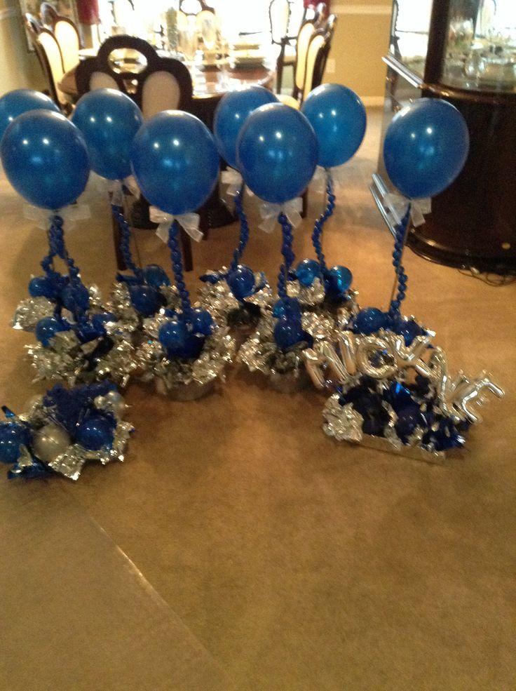 Top hat centerpieces balloons pinterest