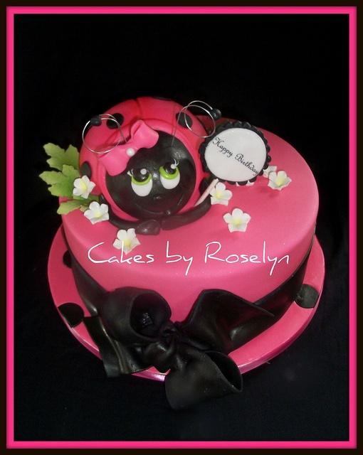 pink lady bug cake | Cake Ideas | Pinterest