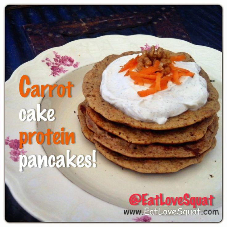 Carrot cake protein pancakes! | Eat Love Squat