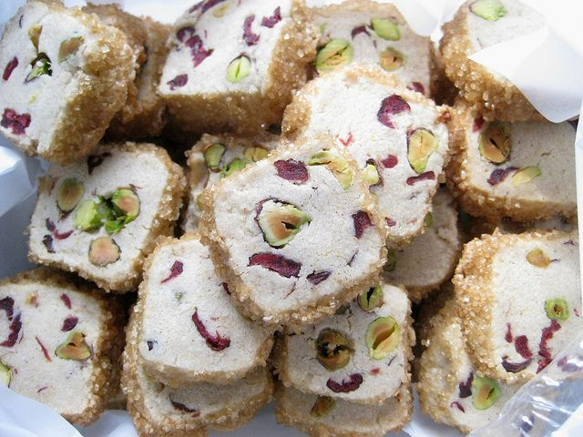 pistachio cranberry ice box cookies by Golly Bard, via Flickr